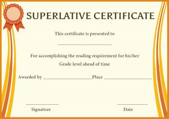 Superlative Award Certificate Templates | Awards Intended For Fresh 10 Science Fair Winner Certificate Template Ideas