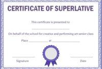 Superlative Certificate Template: 10 Certificate Designs To for Superlative Certificate Templates