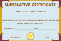 Superlative Certificate Template Word | Certificate regarding Fresh Superlative Certificate Templates