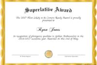 Superlative Templates with regard to Superlative Certificate Template