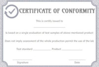 Supplier Certificate Of Conformance Templates | Printable for Certificate Of Conformity Template Ideas