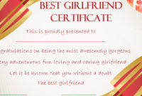 Surprise Your Girlfriend Using These 16+ Best Girlfriend throughout Best Best Girlfriend Certificate 10 Love Templates