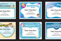 Swim Certificates | Swimming Award Templates | Swim Coach regarding Fresh Editable Swimming Certificate Template Free Ideas