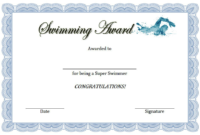 Swimming Award Certificate Free Printable 3 В 2020 Г | Спорт in Finisher Certificate Template 7 Completion Ideas