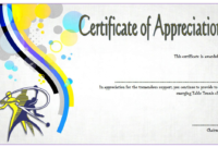Table Tennis Appreciation Certificate Template Free 3 In inside Table Tennis Certificate Template Free