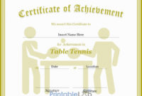 Table Tennis Certificate Format In Silver, Your Pink And within Best Table Tennis Certificate Template Free