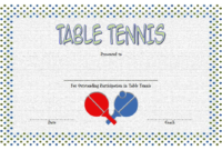 Table Tennis Certificate Template Free 1 In 2020 within Table Tennis Certificate Template Free