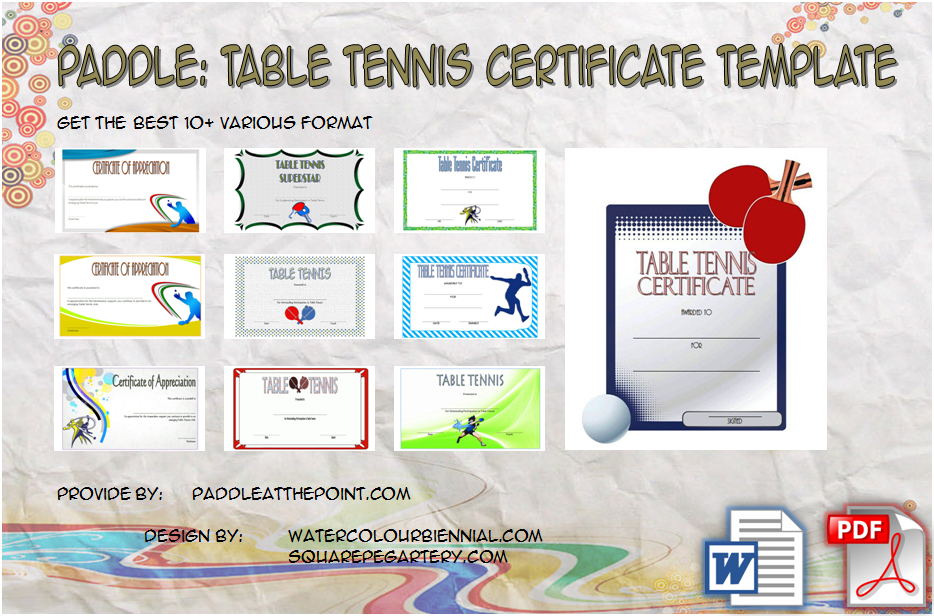 Table Tennis Certificate Template Free - 10+ Cool Designs with regard to Best Table Tennis Certificate Templates Free 10 Designs