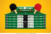 Table Tennis Championship Design Players Scoreboard Stock inside Table Tennis Certificate Templates Free 10 Designs