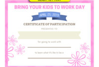Take Your Child To Work Day – Daughters And Sons To Work Day throughout Certificate For Take Your Child To Work Day