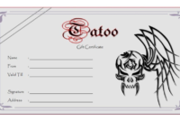 Tattoo Gift Certificate Template (5) – Templates Example in Tattoo Gift Certificate Template
