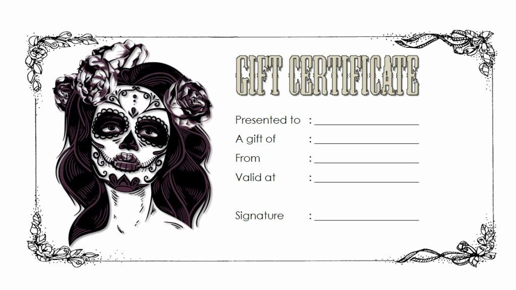 Tattoo Gift Certificate Template Inspirational Tattoo Gift throughout Tattoo Certificates Top 7 Cool Free Templates