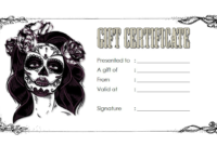 Tattoo Shop Gift Certificate Template Free 3 | Gift intended for Happy New Year Certificate Template Free 2019 Ideas