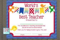 Teacher Appreciation Certificate, End Of The Year, Class, Classroom, School  Gift – Printable Digital File – 8.5X11 in Unique Teacher Appreciation Certificate Templates