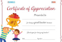 Teacher Appreciation Certificate | Parenting | Sunday School throughout Teacher Appreciation Certificate Free Printable
