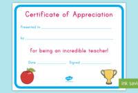 Teacher Appreciation Certificate (Teacher Made) regarding Teacher Appreciation Certificate Templates
