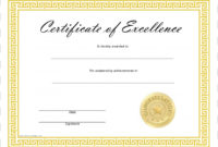 Template Microsoft Word Excellence Academic Certificate regarding Unique Academic Certificate