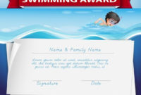 Template Of Certificate For Swimming Award – Download Free for Swimming Certificate Template