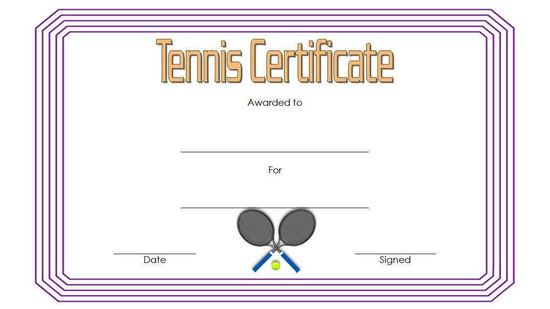 Tennis Award Certificate Template Free 1 In 2020 Inside Fresh Printable Tennis Certificate Templates 20 Ideas