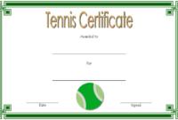 Tennis Certificate Template Free 4 Di 2020 pertaining to Fresh Printable Tennis Certificate Templates 20 Ideas