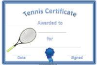 Tennis Certificate Template Free In 2020 | Certificate throughout Fresh Tennis Achievement Certificate Template