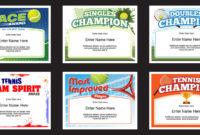 Tennis Certificates   Award Templates   Tennis Team Coach inside Fresh Tennis Achievement Certificate Templates