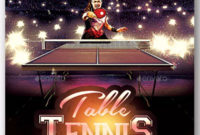 Tennis Flyer Templates – Free & Premium Psd Ai Png Eps Downloads intended for Best Table Tennis Certificate Templates Free 10 Designs