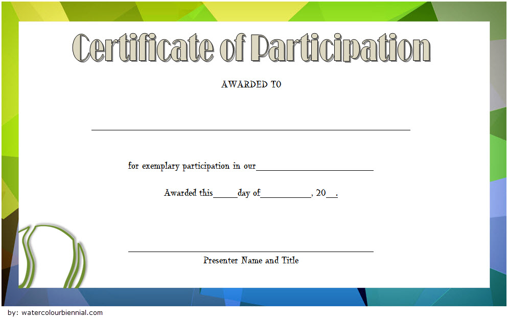 Tennis Participation Certificate Template Free 1 In 2020 With Regard To Fresh Tennis Participation Certificate