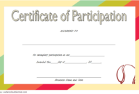 Tennis Participation Certificate Template Free 2 In 2020 throughout Fresh Printable Tennis Certificate Templates 20 Ideas