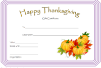Thanksgiving Gift Certificate Template Free (Harvest Theme inside Thanksgiving Gift Certificate Template Free