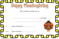 Thanksgiving Gift Certificate Template Free (Microsoft Word in Fresh Thanksgiving Gift Certificate Template Free