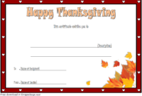 Thanksgiving Gift Certificate Template Free (Towards The intended for Thanksgiving Gift Certificate Template Free