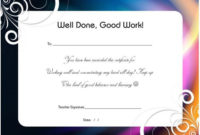 Thankyou For All Your Hard Work Certificate | Certificate intended for Great Work Certificate Template