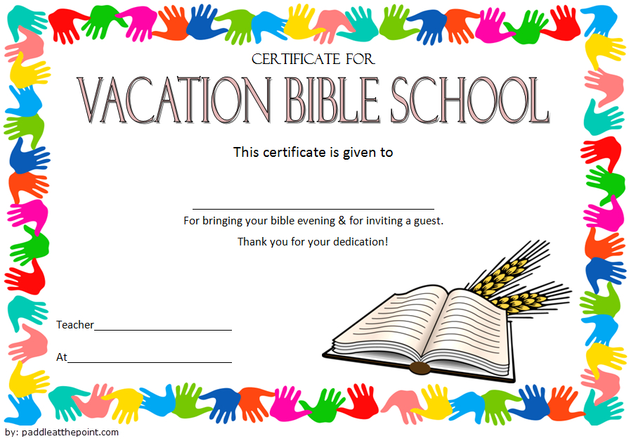 The Best Vbs Certificate Printable – Mason Website For Best Vbs Attendance Certificate Template