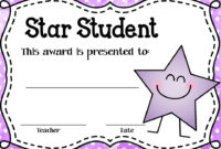 These Editable Star Student Awards Will Come In Handy! Type for Student Of The Week Certificate
