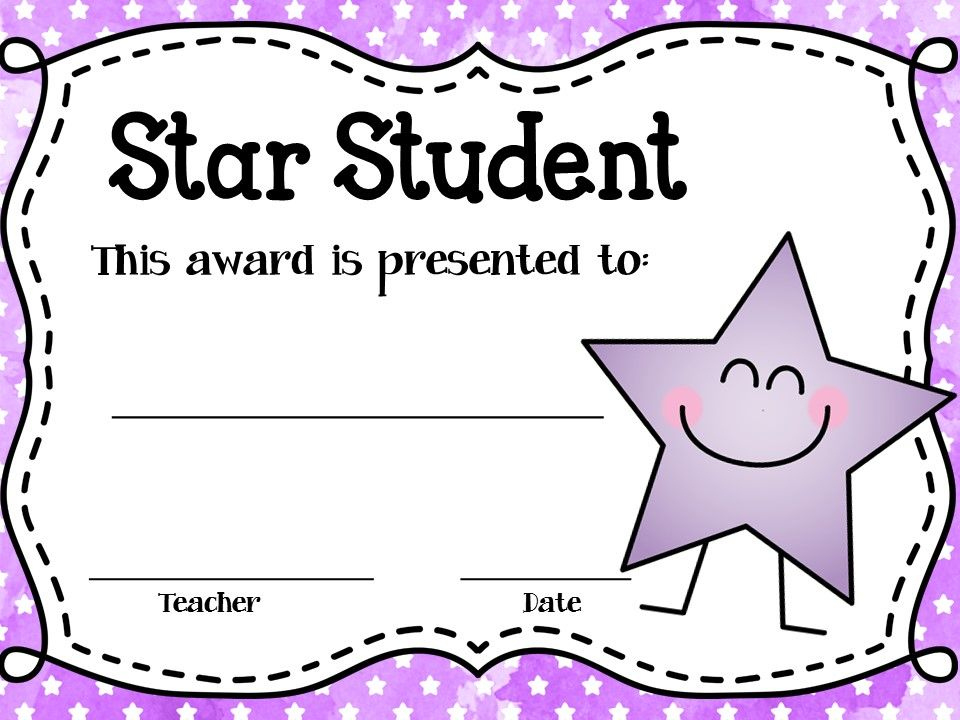 These Editable Star Student Awards Will Come In Handy! Type Regarding Star Student Certificate Templates