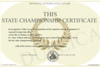 This State Championship Certificate With Best Certificate Of Championship