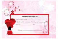 Top 10 Specialized Manicure Gift Certificate Templates inside Unique Free Printable Manicure Gift Certificate Template