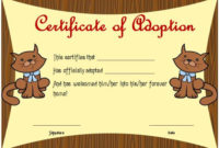 Toy Adoption Certificate Template : 13+ Free Word Templates inside Unique Cat Birth Certificate Free Printable