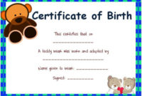 Toy Adoption Certificate Template : 13+ Free Word Templates intended for Best Amazing Teddy Bear Birth Certificate Templates Free