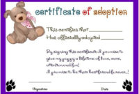 Toy Adoption Certificate Template : 13+ Free Word Templates within Unique Stuffed Animal Adoption Certificate Editable Templates