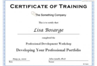 Training Certificate Template Word Format 7 – Best Templates within Physical Fitness Certificate Template 7 Ideas