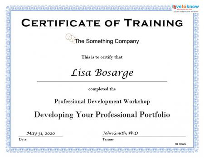 Training Certificate Template Word Format 7 - Best Templates Within Physical Fitness Certificate Template 7 Ideas