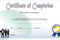 Training Course Completion Certificate Template 2 In 2020 intended for Training Completion Certificate Template 10 Ideas