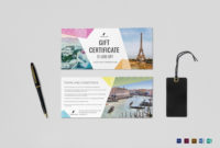 Travel Gift Certificate Template ~ Addictionary in Travel Gift Certificate Editable