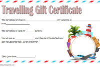 Travel Gift Certificate Template Free Printable 2 In 2020 in Travel Gift Certificate Editable