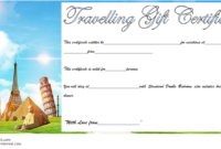 Travel Gift Certificate Template Free Printable 3 In 2020 pertaining to Fresh Travel Gift Certificate Templates