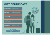 Travel Gift Certificate Template – Pdf Templates | Jotform for Fresh Travel Gift Certificate Templates