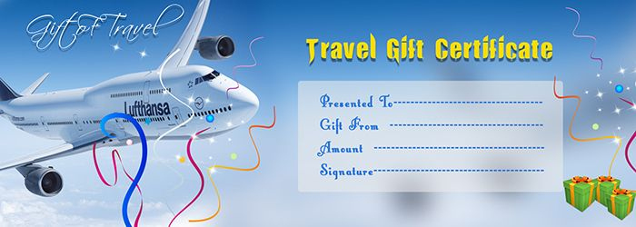 Travel Gift Voucher Certificate Template | Free Gift intended for Travel Gift Certificate Editable