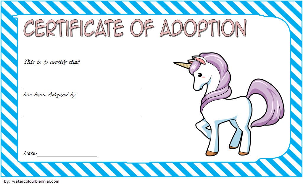 Unicorn Adoption Certificate Free Printable (Fantasy Design in Unicorn Adoption Certificate Free Printable 7 Ideas